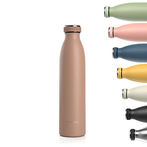 Lars NYSØM Borraccia Termica da 750ml in Acciaio Inox | Bottiglia isolata Senza BPA | Bottiglia d'Acqua a Tenuta stagna per Sport, Bicicletta, Cane, Bambino Bambini