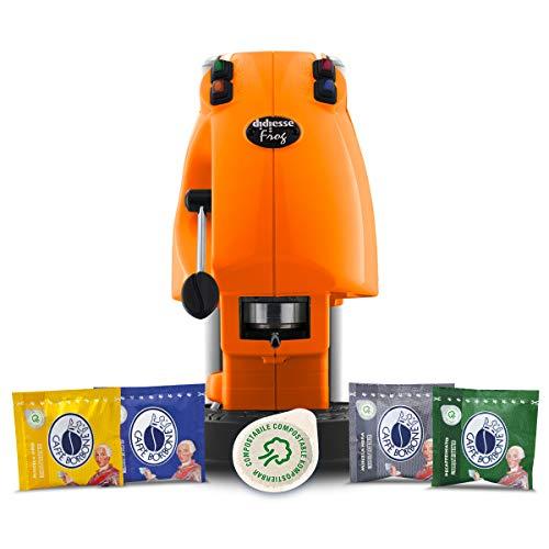 Didiesse Frog Revolution Magica Emozione pack (Macchina da Caffè a Cialde + 60 capsule), 650 W, Arancio