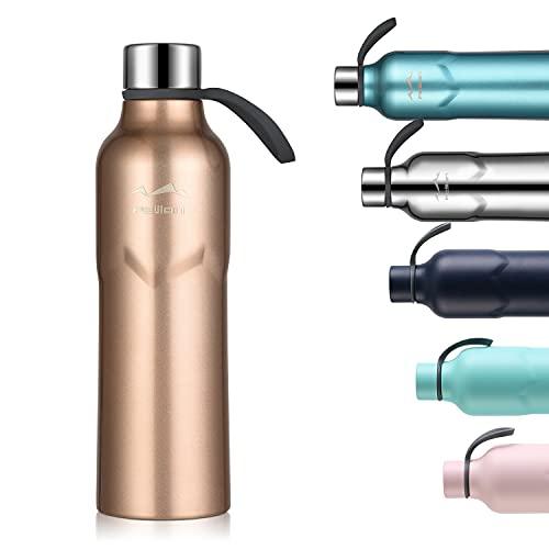 FJbottle Borraccia Termica in Acciaio Inox, Bottiglia Termica Senza Perdite - 600ML - Senza BPA Borracce, per Bambini, Scuola, Sport, Campeggio, Yoga, Palestra, Ciclismo