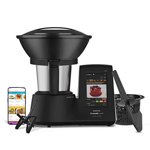 Taurus Mycook Touch Black Edition - Robot da cucina, Wi-Fi, 1600 W, 2 l, fino a 140 gradi, multifunzione, oltre 8000 ricette, vaporizzatore a 2 livelli e cestello