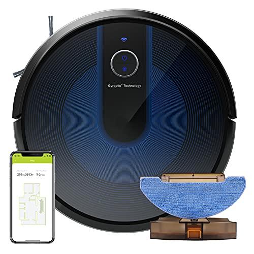 KÝVÖL E31 Robot Aspirapolvere e Lavapavimenti 2 in 1, Aspirapolvere e Lavapavimenti 2200 PA, 150 min di Autonomia, Booster Automatico del Tappeto, Navigazione Intelligente, Funziona con Alexa